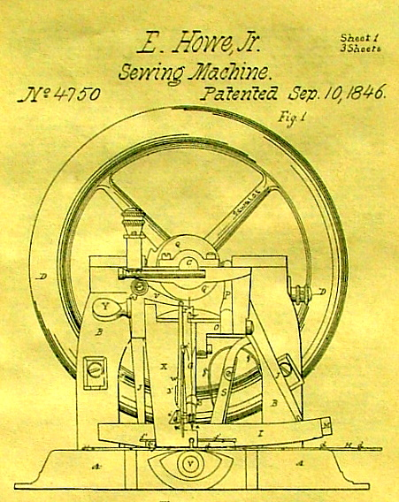 ELIAS HOWE INVENTOR OF THE SEWING MACHINE Mesmerizing Patent For Sewing Machine