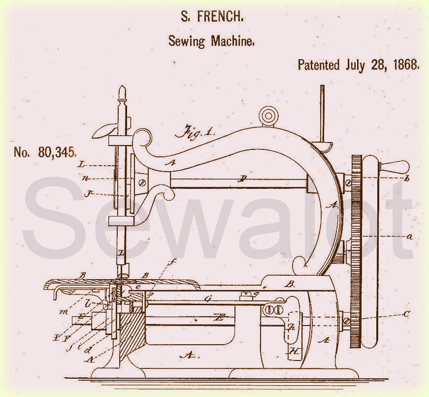 DOLLY VARDEN SEWING MACHINE SEWALOT Cool Patent For Sewing Machine