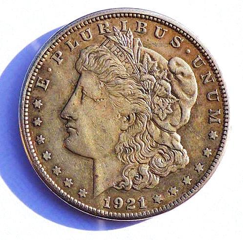 Historic 1921-S  The LAST Morgan Silver Dollar Minted in San Francisco 90/%