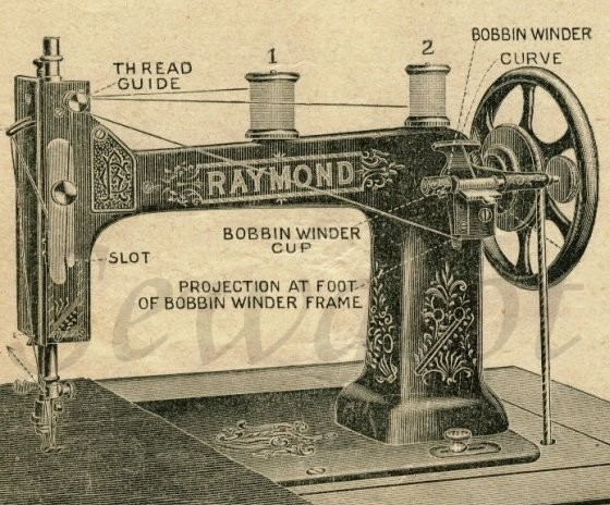 CHARLES RAYMOND RAYMOND SEWING MACHINE NEW ENGLAND SEWING MACHINES Simple How Was The First Sewing Machine Made