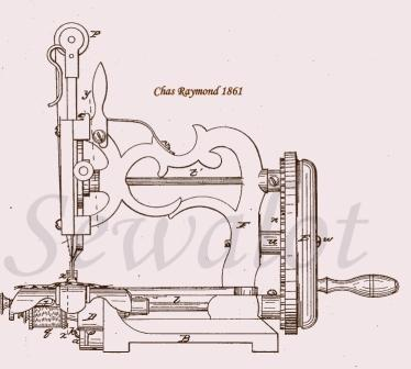 CHARLES RAYMOND RAYMOND SEWING MACHINE NEW ENGLAND SEWING MACHINES Cool Patent For Sewing Machine
