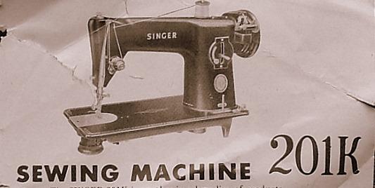 SINGER 40 SINGER 40K Custom Singer Sewing Machine Model 201 Value